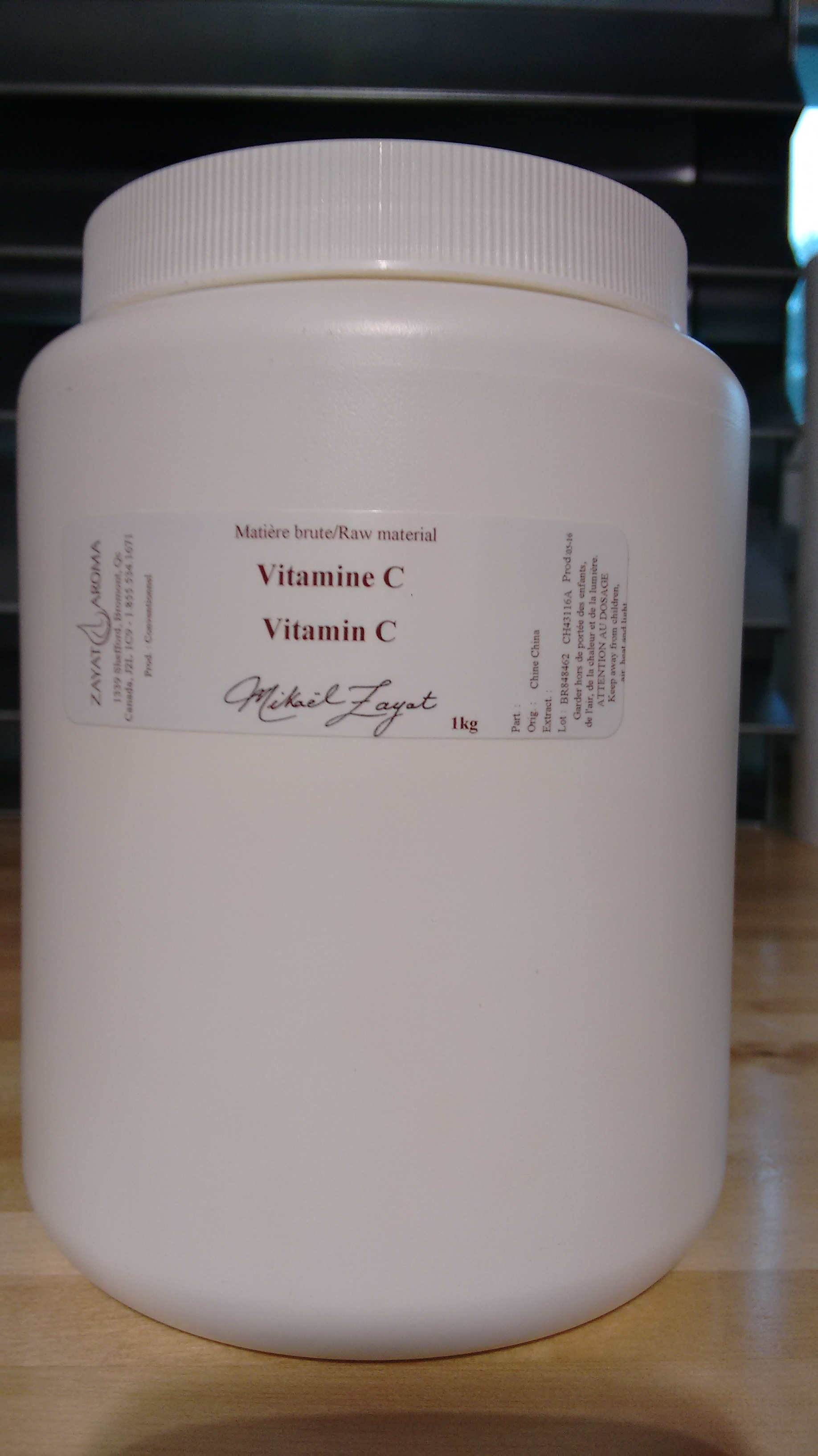 additifs cosm tiques vitamine c poudre zayat aroma. Black Bedroom Furniture Sets. Home Design Ideas