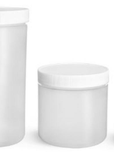HDPE Naturel pot, natural HDPE jar