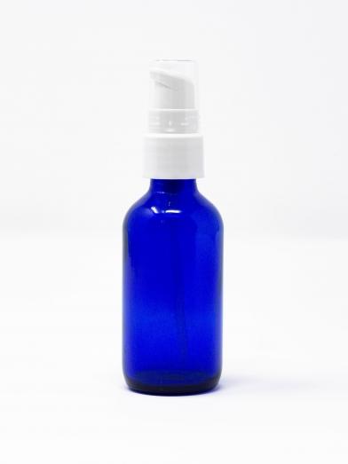 Bouteille verre cobalt 20GL pompe traitement, cobalt glass bottle 20GL treatment pump