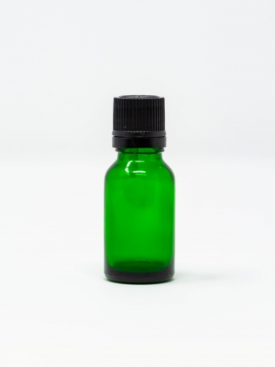 bouteille verre verte 18GL bouchon noir