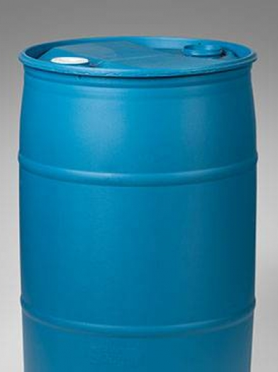 Baril standard plastique bleu 180kg 57GL, plastic standard drum 180kg 57GL